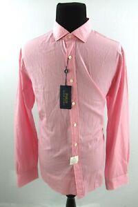 Polo Ralph Lauren Pink White Stripe Long Sleeve Shirt Mens 2XL XXL $125