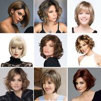 Women Ladies Synthetic Short Curly/Wavy/Straight Wigs Fashion Bob Pexie Full Wig