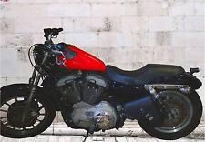 Borsa Moto in Pelle Mono Borsa Custom Harley Davidson Moto Guzzi Chopper Bobber