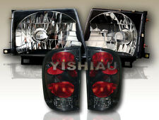 97-00 Toyota Tacoma 2WD 98-00 4WD Black Headlights & Dark Smoke Tail Lights