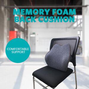 Memory Foam Back Cushion Back Support Lumbar Cushion Seat Pillow Home Office Car