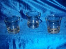 Clean Lot of 3 Empty Glade Heavy Candle Holder //Jars 6 oz
