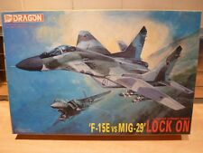 "Dragon 1/144 F-15E Versus MIG-29 ""Lock On"" Air combat series, x2 model kits."