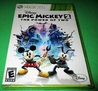 Disney Epic Mickey 2: The Power of Two Microsoft Xbox 360 *Sealed *Free Ship!