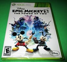 Disney Epic Mickey 2: The Power of Two Microsoft Xbox 360 *Sealed *Free Ship!