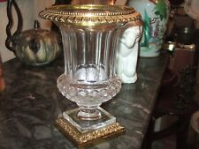 Très Beau Vase Médicis en Cristal et Bronze 29.5 cm, Modèle Versailles St Louis.