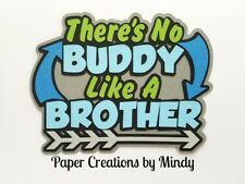 CRAFTECAFE MINDY BROTHER FAMILY DIECUT premade paper piecing TITLE scrapbook