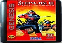 Shinobi III: Return Of The Ninja Master (1993) 16 Bit For Sega Genesis System
