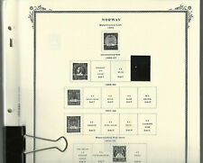SCOTT SPECIALTY Pages for NORWAY with 93 stamps...1855-1995...89 Pages