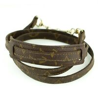 LOUIS VUITTON Monogram Old Model Shoulder Strap For Pouch Bag Brown 112cm 44.09""