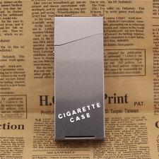 Silver Women Slim Aluminum Cigarette Case Metal Holder Box for 100's King Size