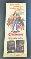 Original 1977 Walt Disney CANDLESHOE Movie Poster 14 x 36 JODIE FOSTER