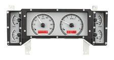 Dakota Digital 84-87 Buick Regal Analog Gauge System Silver Red VHX-84B-REG-S-R