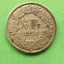 1920 Svizzera argento metà FRANCO / 1/2 FRANCO sno31018