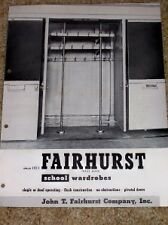 Vtg John T Fairhurst Co Catalog-School Wardrobes-Closet
