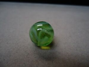 Vintage German Light Green Wire Pull Marble   5/8   Mint +   Circa 1960
