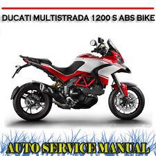 DUCATI MULTISTRADA 1200 S ABS BIKE WORKSHOP SERVICE REPAIR MANUAL ~ DVD
