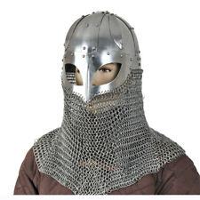 Wikingerhelmd mit Kettenbrühne Rüstung Mittelalter Helm Schaukampf Re-enactment