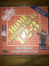 HOME DEPOT Improvement 123 Do-It-Yourself Win PC CD Version 1.0 1995 Copyright