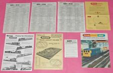3 x Tri-ang Hornby Minic Price Lists 1968 – 1969 & related lit. Triang 00 OO
