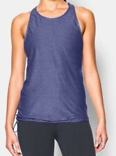 NEW Under Armour Studio Go To Womens HeatGear Running Gym Vest Tank Top Purple