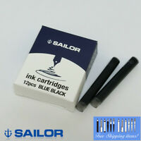 Sailor Blue Black Ink Cartridge x12 for Fountain Pen 13-0402-144 Made in Japan