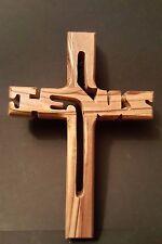 Kreuz, Holzkreuz, Wandkreuz a. Olivenholz, geschnitzt in Bethlehem, 12 cm