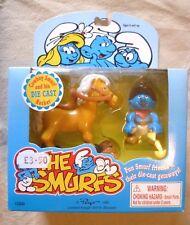 Vintage Smurf Collectable-Irwin Cowboy Smurf & His Die Cast Rocker 1996-BNIP #5