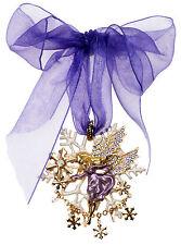 KIRKS FOLLY ISABELLE ANGEL PIN PENDANT ORNAMENT goldtone