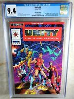 Unity #0 Red Logo Variant 1992 CGC 9.4 NM White Pages - Comic I0126