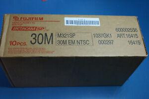 Fujifilm M321SP 30M Betacam SP Professional Video Tape  QTY 10