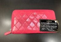 CHANEL Bicolore Matelasse Quilted Lambskin Leather Zippy Wallet 20000202671