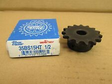 "NIB MARTIN 35BS15HT ROLLER SPROCKET 35 BS 15 HT 15 SABER TOOTH 1/2"" BORE"
