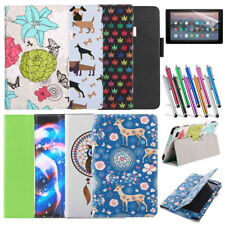Magnetic Leather Smart Case Cover For Amazon Kindle Fire HD 10 2019/2017 Tablet
