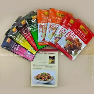 Lee Kum Kee Chinese Cooking Sauce Kit Set (8 dishes) - Lemon Chicken, Sweet Sour