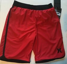 New Hurley Youth Boy/'s L//24  XL//16  Fleece Shorts Logo Cherry Heather 981676