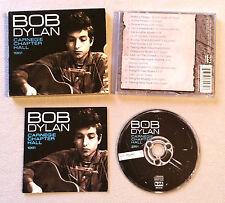BOB DYLAN - CARNEGIE CHAPTER HALL 1961 / CD ALBUM COLUMBIA BDACD102