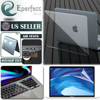 """For MacBook Pro 16"""" A2141 Hard Case Clear Shell Keyboard Cover Screen Protector"""