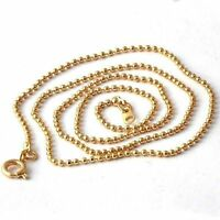 "18"" Womens Beaded Necklace Chain Yellow Gold Filled jewelry free shipping"