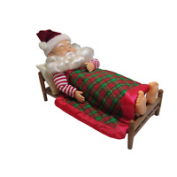 Snoring Santa Claus Christmas Motion Animated Sleeping In Bed NOT Working C Note