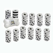 12 Rolls Pet Dog Cat Poop Scoopers Waste Bags w Dispenser Holder 240ct Bag WH BK
