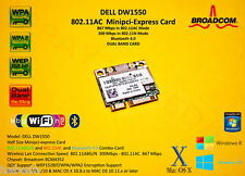 MiniPCI-express 802.11ac BT 867 Mbps bcm4352 bcm94352hmb dw1550 de Dell Hackintosh