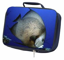 Funky Fish Navy Insulated School Lunch Box Bag, AF-23LBN