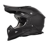 O'Neal 2Series MX Helm FLAT Schwarz L Motocross Enduro Offroad Cross Quad oneal