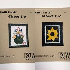 2 Quilt Card Patterns Klm Tradeco 4�x5� Quilting Sewing Sunny Day Cheer Up