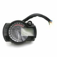 Moto 7 couleurs Compteur de vitesse numérique LCD Odomètre réglable Pour Honda
