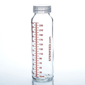 Sterifeed glass breast milk bottles - 240ml x 2