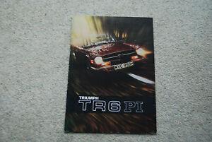 TRIUMPH TR6 (150HP) ORIGINAL 1970 FACTORY UK SALES BROCHURE