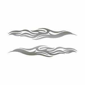 Pair of Tribal Flames - Decal Sticker - Multiple Color & Sizes - ebn1143