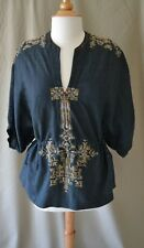 Isabel Marant Navy Cotton Blouse with Embroidery Size 1